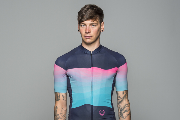 Summit Jersey Green/Pink (Men) by Warsaw Cycling