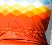 Azure rhombus jersey by Mack Cycling