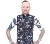 Men's Black Floral Cycle Vest by Jaggad
