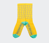 Resort Yellow Net Socks by Tenspeed Hero