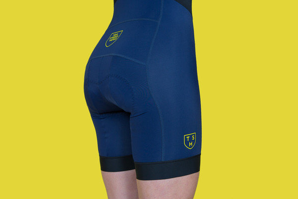 Resort Navy Blue Bib Shorts by Tenspeed Hero