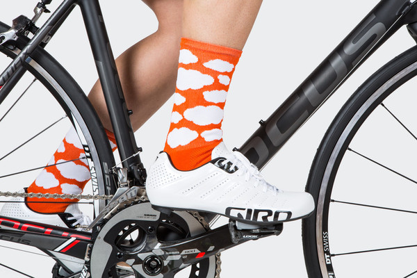 Resort Orange Cloud Socks by Tenspeed Hero