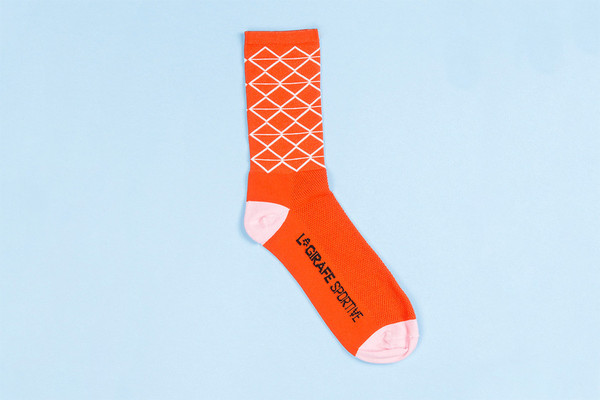 Orange Pont du Gard Socks by Tenspeed Hero